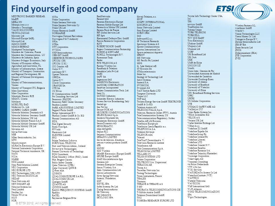 Find yourself in good company MEDTRONIC BAKKEN RESEAR. MinEFI MERA NN Mesaqin.com s.r.o Metodos y Tecnologia VALID SOLUCIONES TECNOLOGICAS Microsec Lt