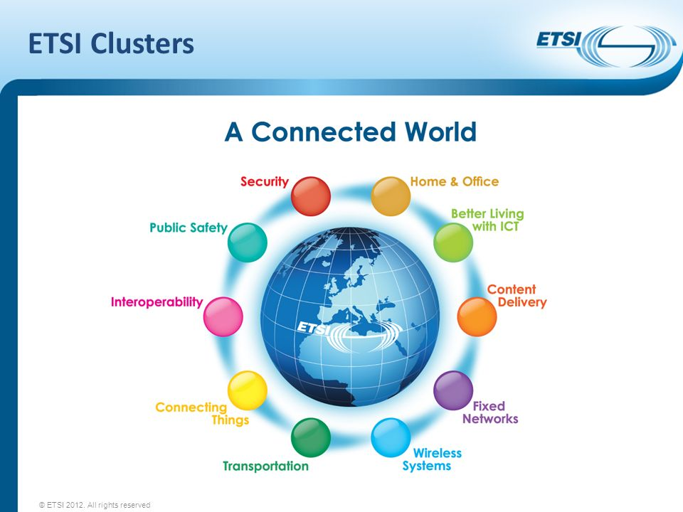 ETSI Clusters © ETSI 2012. All rights reserved