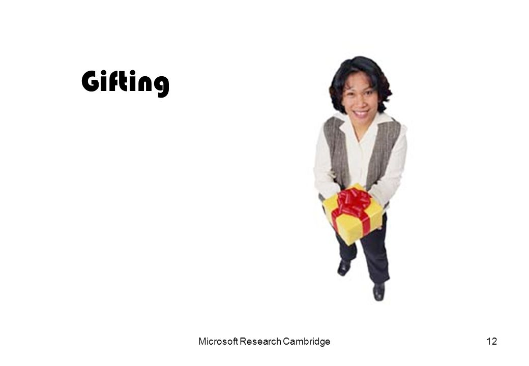 Microsoft Research Cambridge12 Gifting