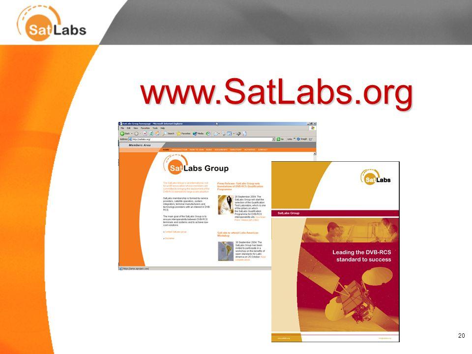 20 www.SatLabs.org