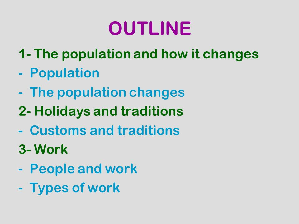 THE POPULATION AND HOW IT CHANGES