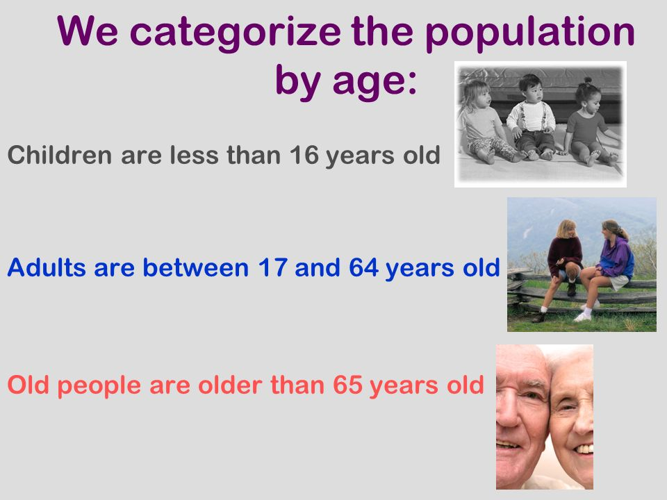 THE POPULATION CHANGES