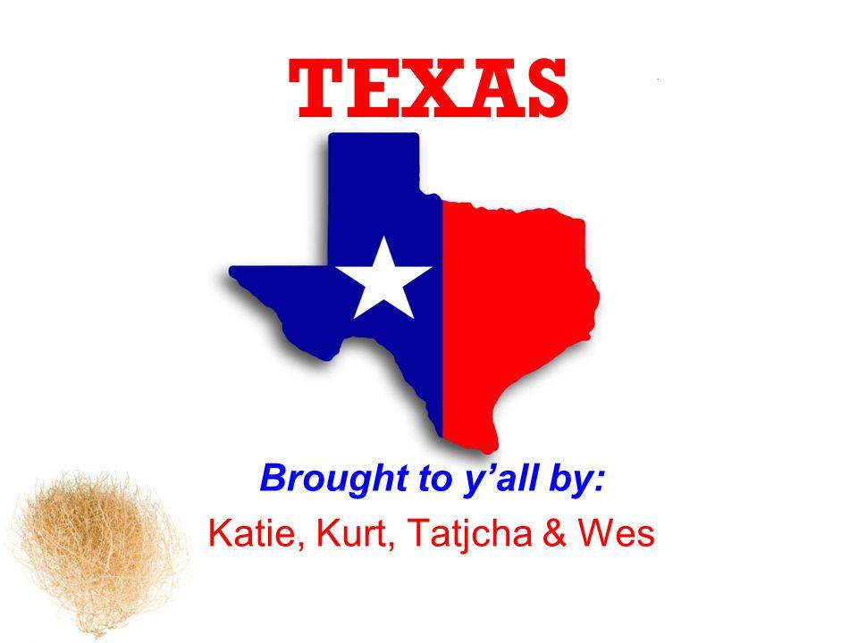 TEXAS Brought to yall by: Katie, Kurt, Tatjcha & Wes