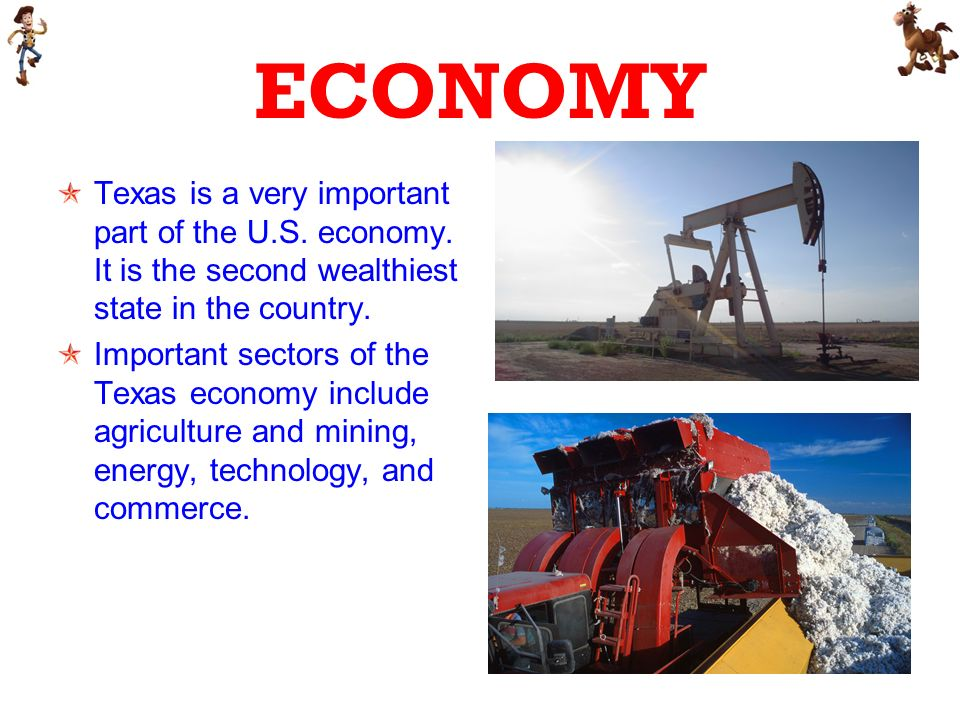 ECONOMY Texas is a very important part of the U.S.