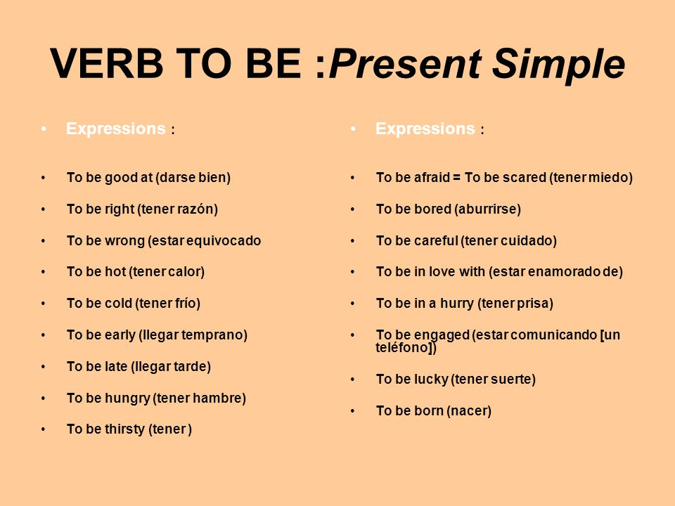 VERB TO BE :Present Simple INTERROGATIVE…..SHORT_ANSWERS Am I?………...Yes, you are………No, you arent.