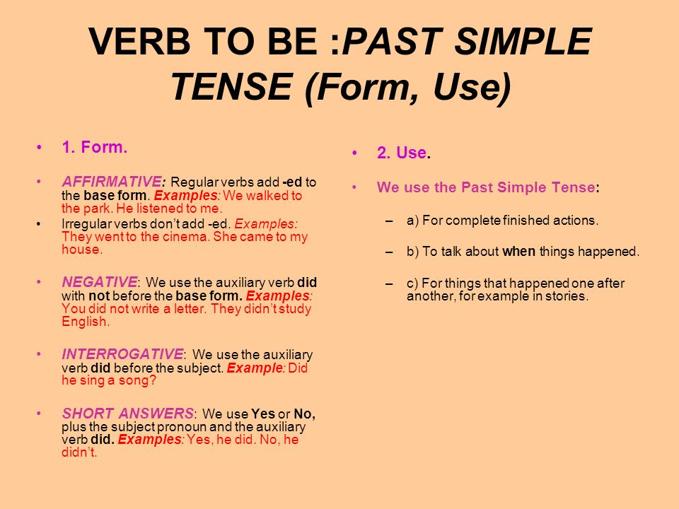 VERB TO BE :PRESENT SIMPLE TENSE (Spelling, Pronunciation) 3.