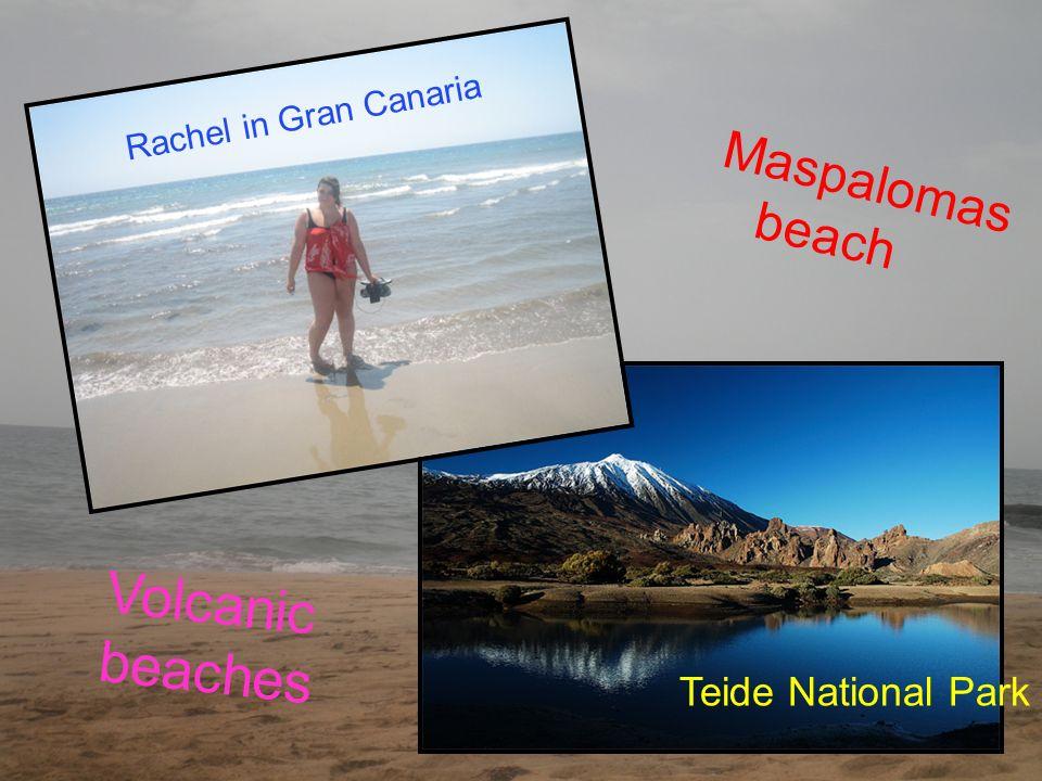 Rachel in Gran Canaria Teide National Park M a s p a l o m a s b e a c h Volcanic beaches