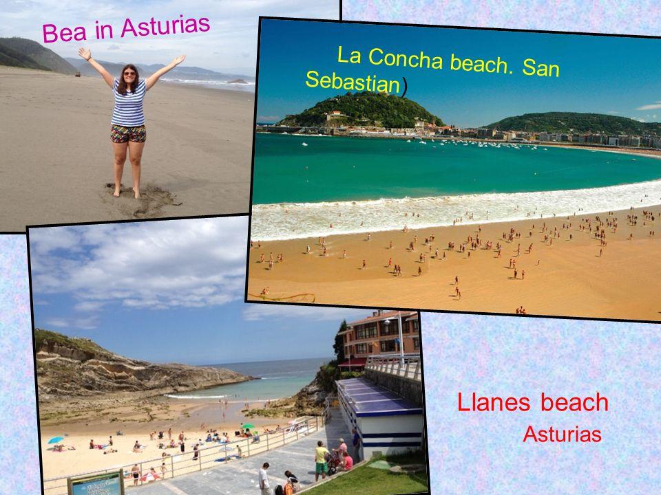 La Concha beach. San Sebastian) Llanes beach Asturias Bea in Asturias