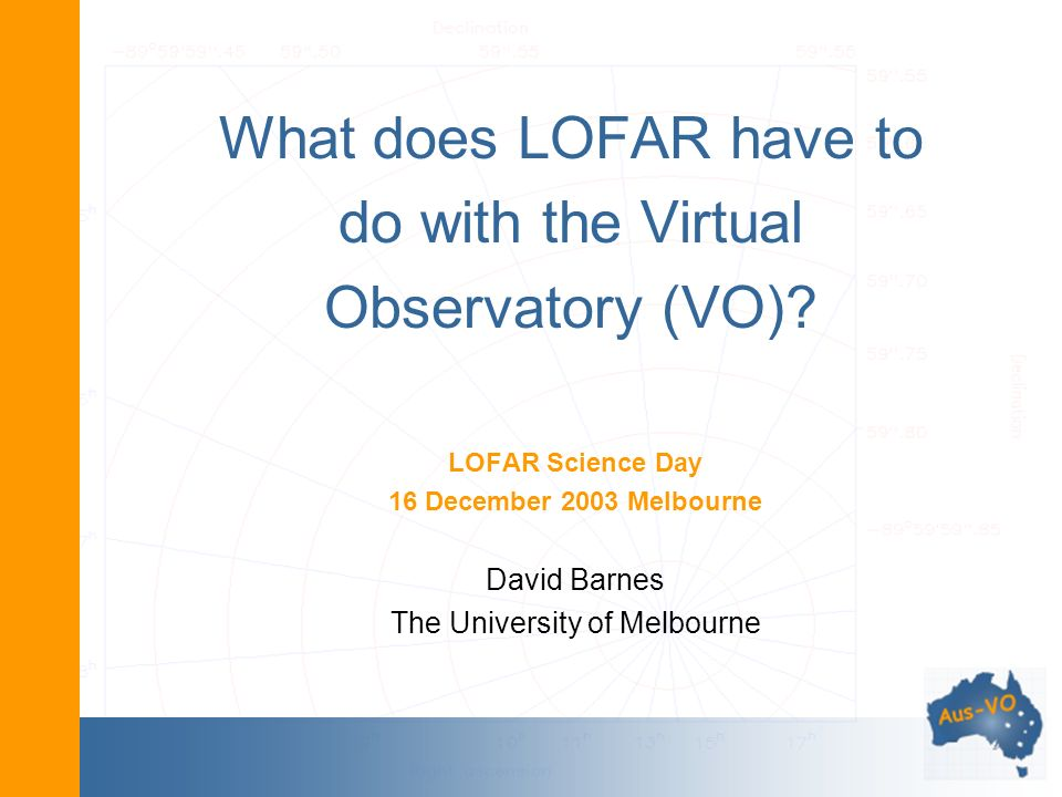 What does LOFAR have to do with the Virtual Observatory (VO).