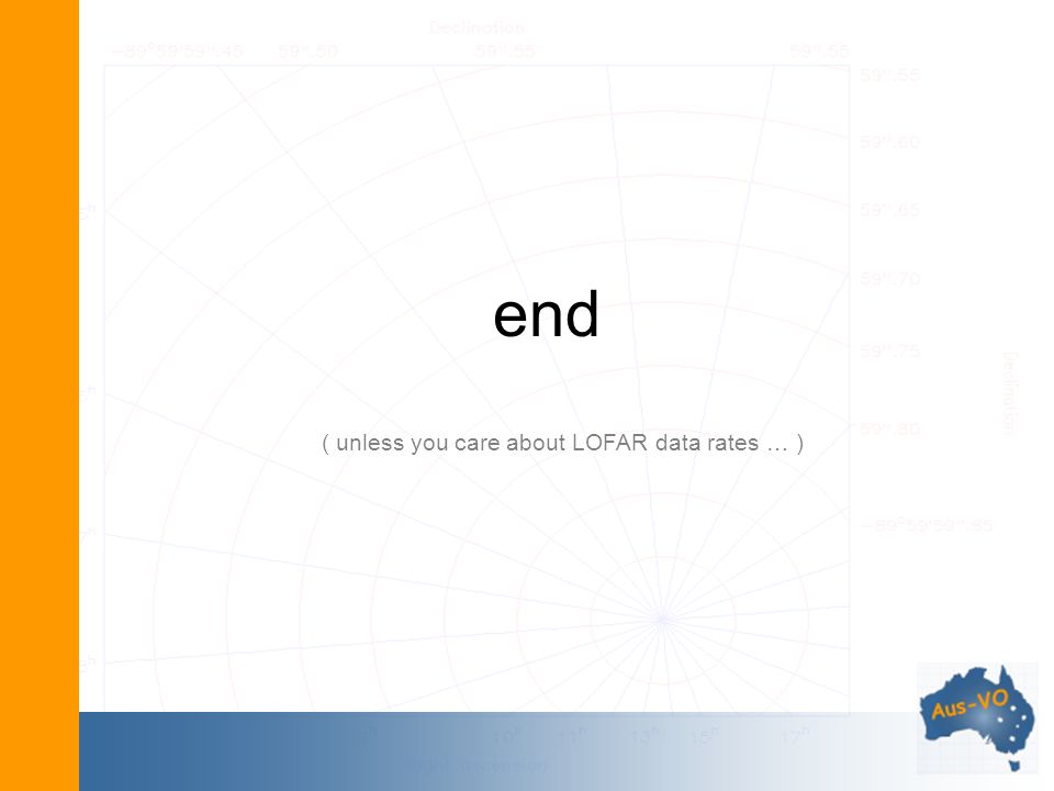 end ( unless you care about LOFAR data rates … )