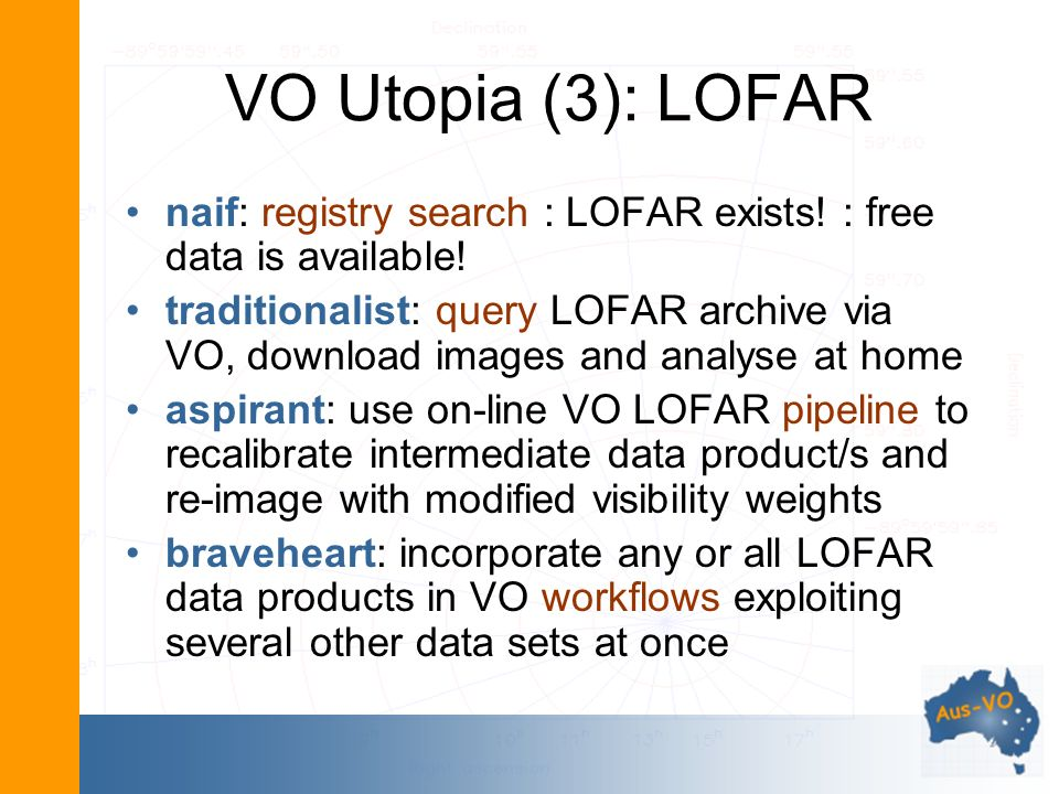 VO Utopia (3): LOFAR naif: registry search : LOFAR exists.