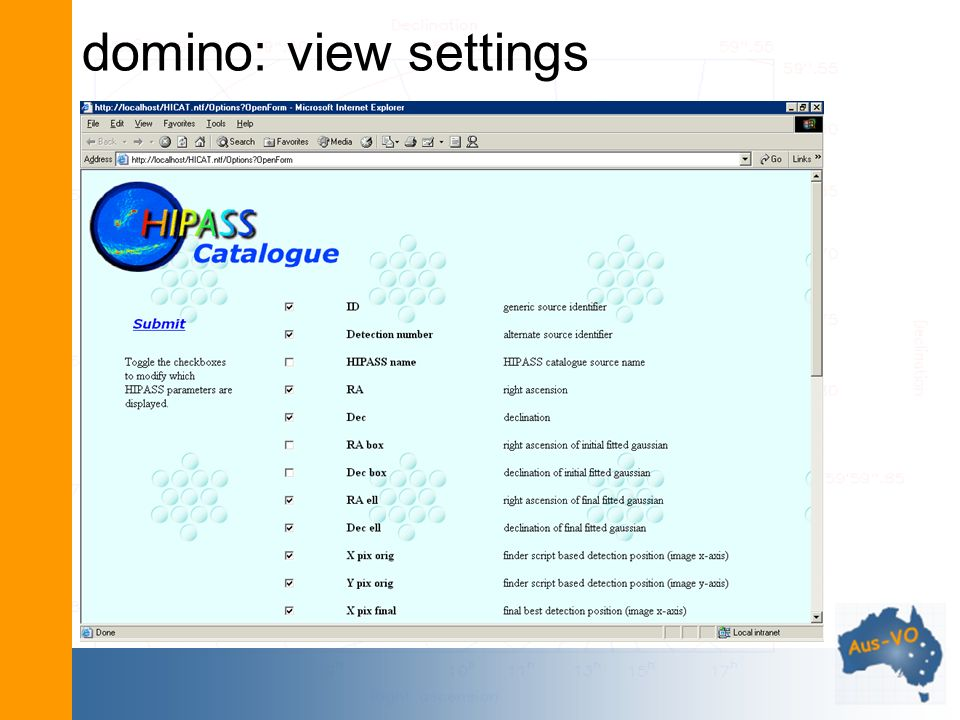 domino: view settings