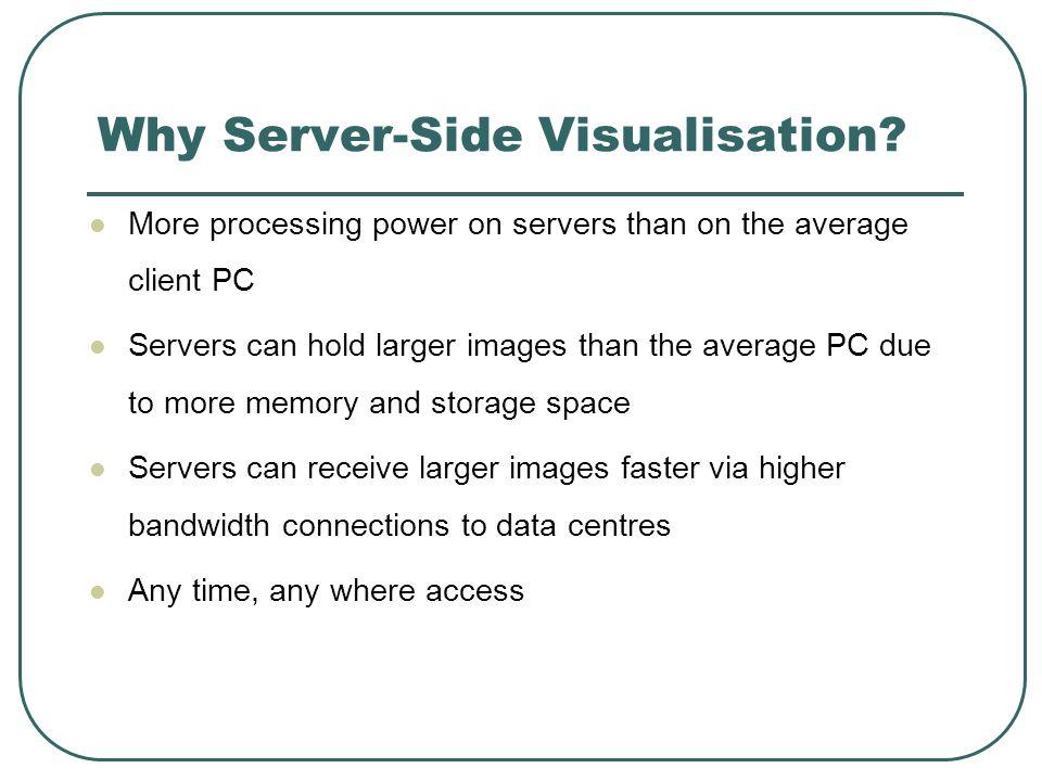Why Server-Side Visualisation.