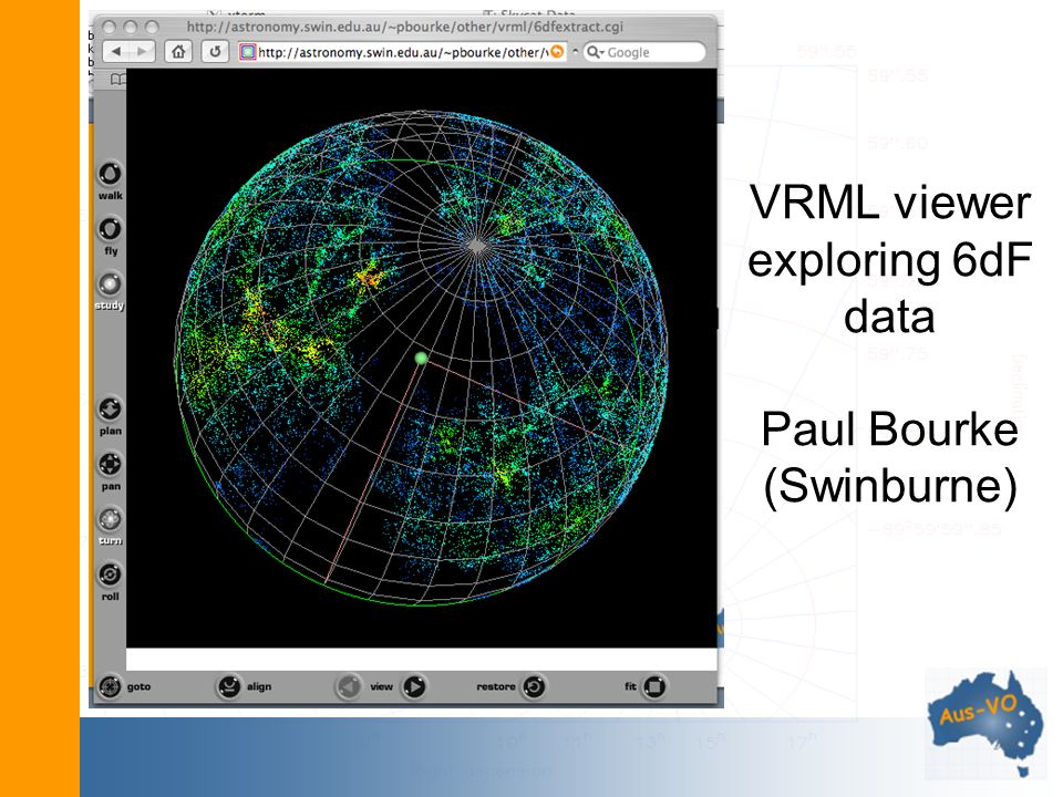 VRML viewer exploring 6dF data Paul Bourke (Swinburne)