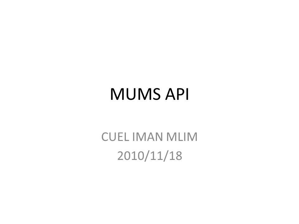 MUMS API CUEL IMAN MLIM 2010/11/18