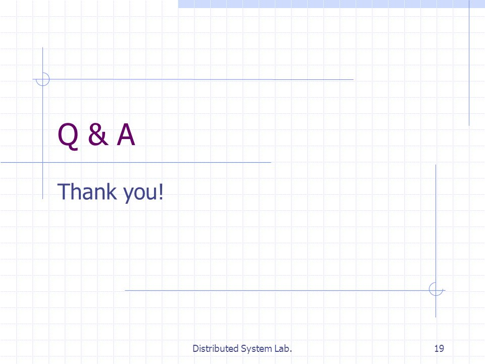 Distributed System Lab.19 Q & A Thank you!