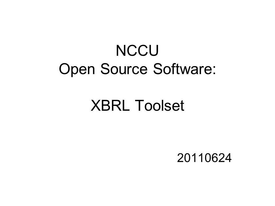 NCCU Open Source Software: XBRL Toolset 20110624