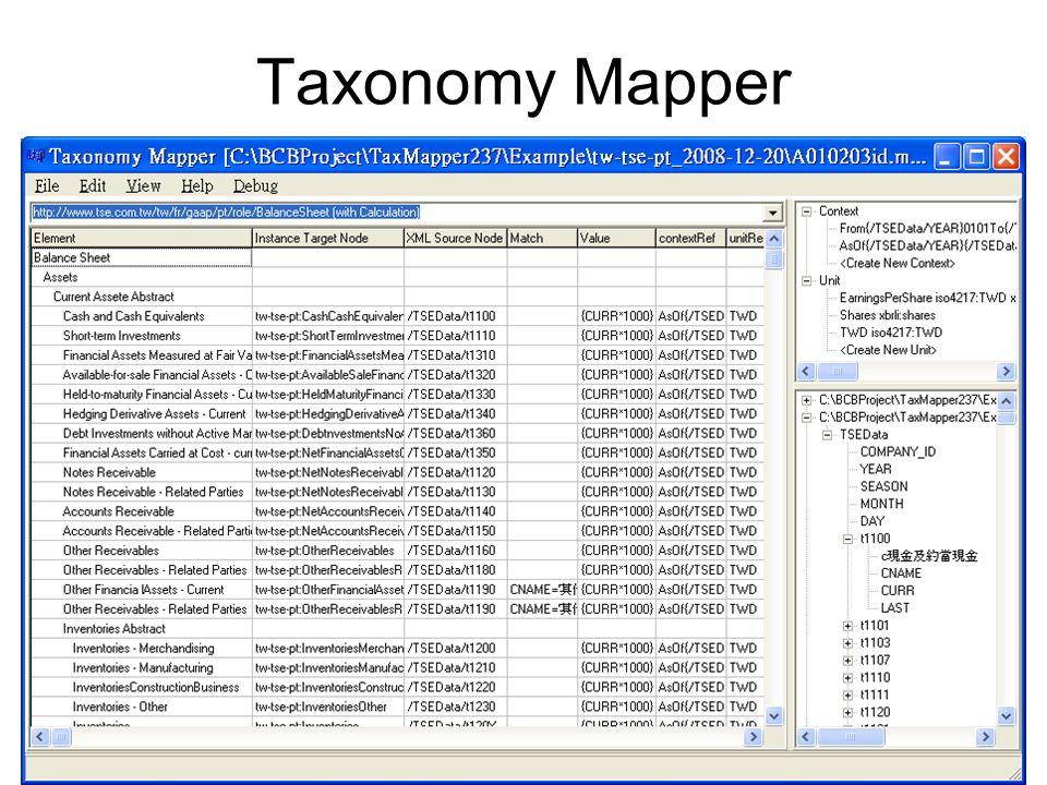 Taxonomy Mapper