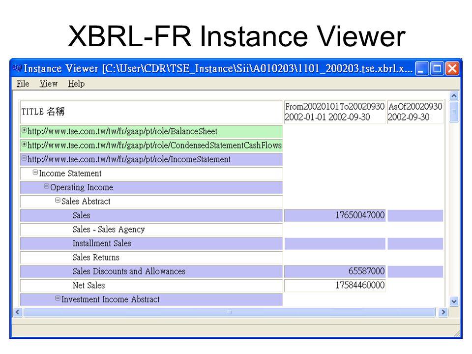 XBRL-FR Instance Viewer