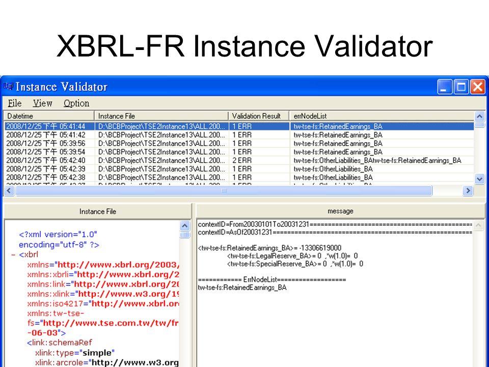 XBRL-FR Instance Validator
