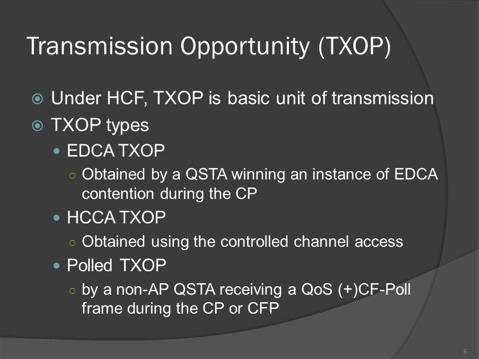 The Proposed Approach The adjustment of TXOP value is used to improve the throughput of the classes at the QAP leading to more balanced delay 17