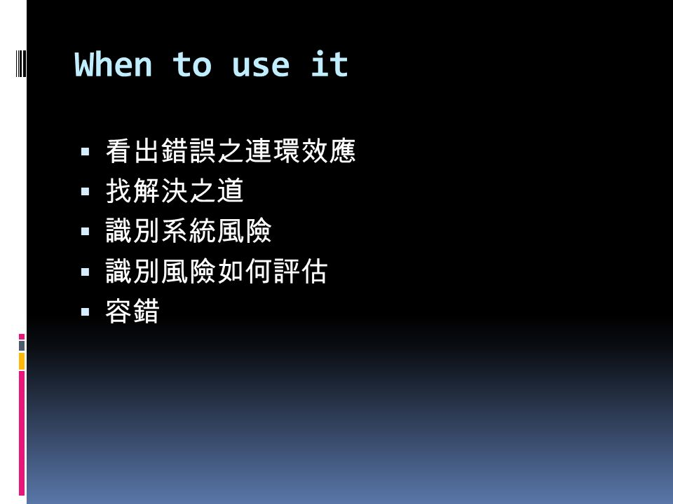 When to use it