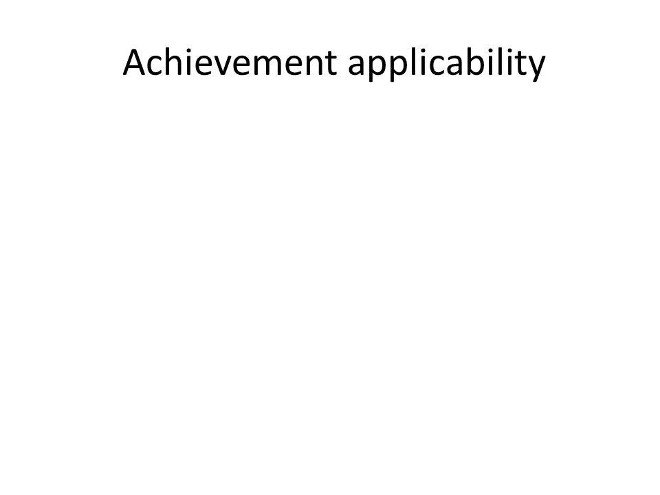 Achievement applicability