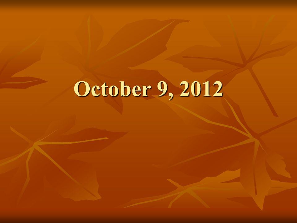 October 9, 2012