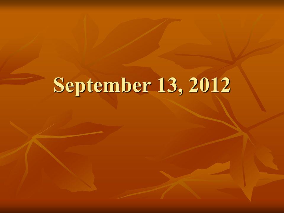 September 13, 2012