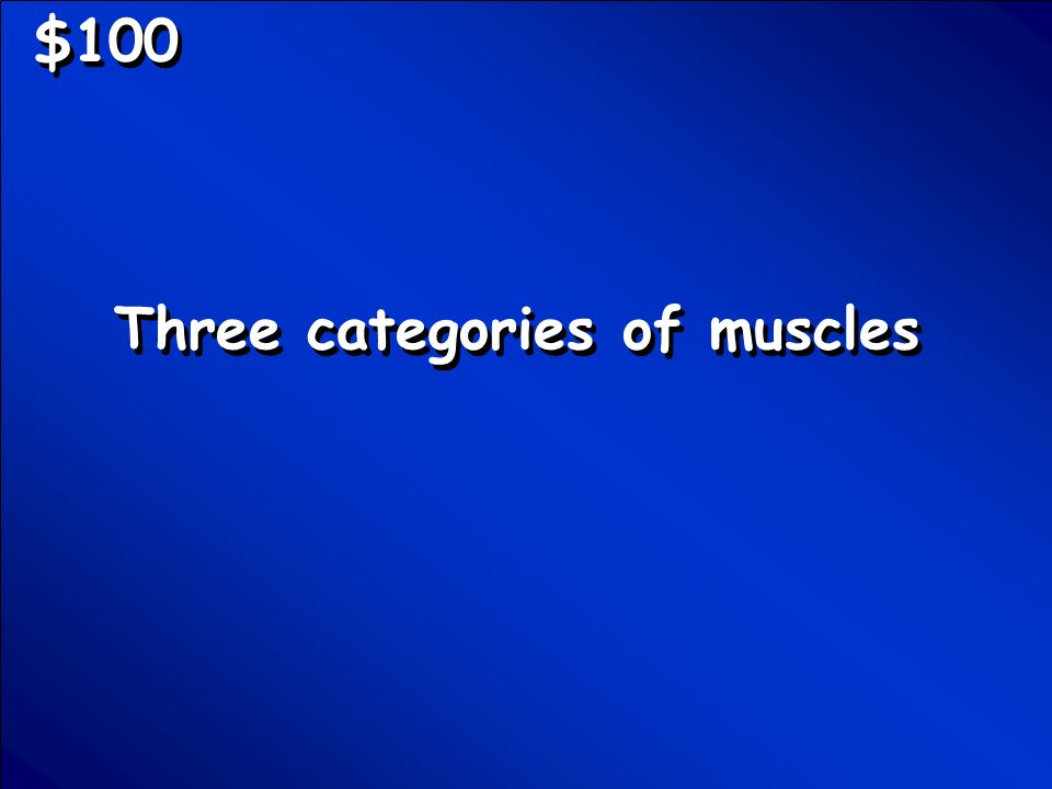 © Mark E. Damon - All Rights Reserved $100 Three categories of muscles