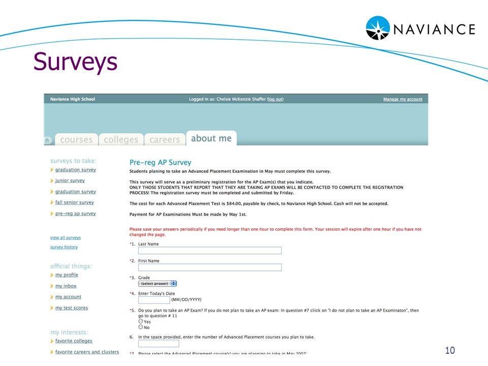 Surveys 10