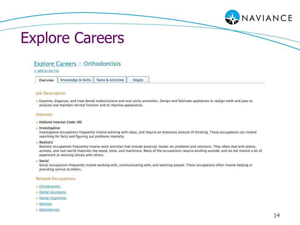 Explore Careers 14