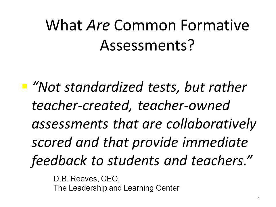 8 What Are Common Formative Assessments.