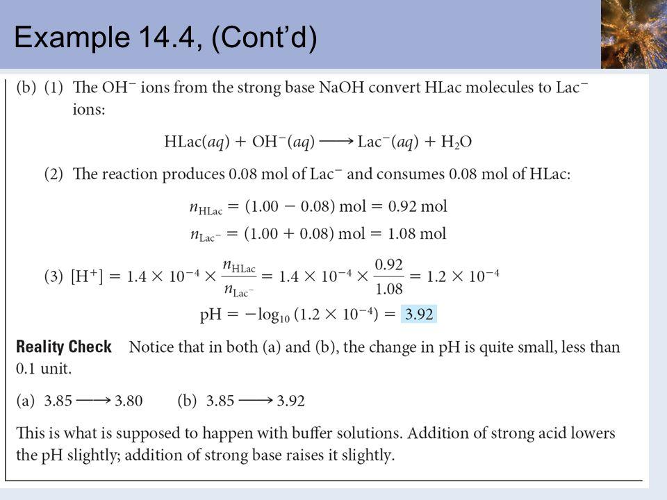 Example 14.4, (Contd)