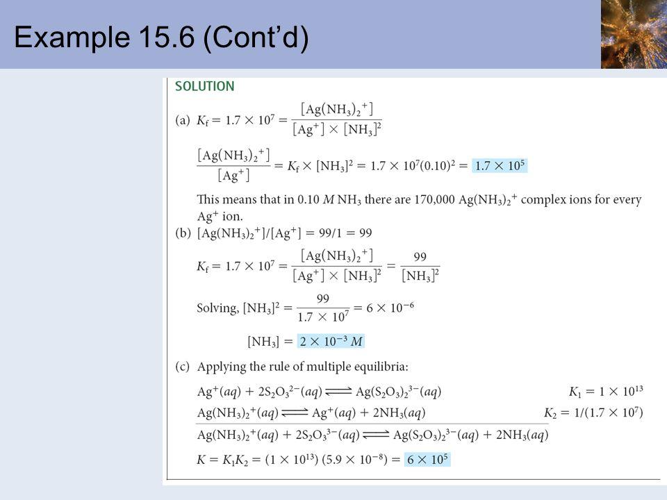 Example 15.6 (Contd)
