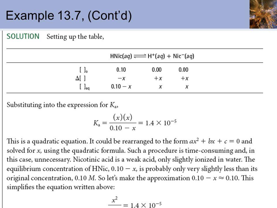 Example 13.7, (Contd)