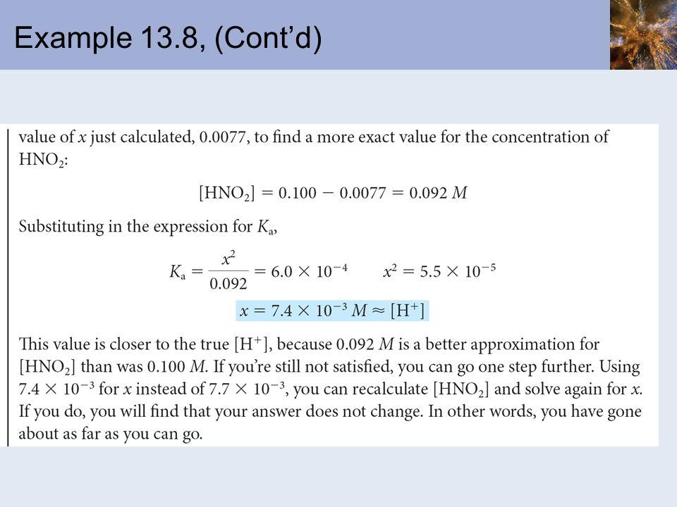 Example 13.8, (Contd)