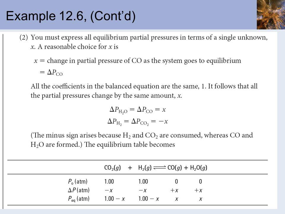 Example 12.6, (Contd)
