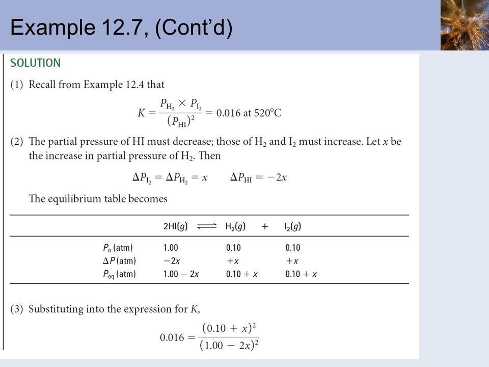 Example 12.7, (Contd)