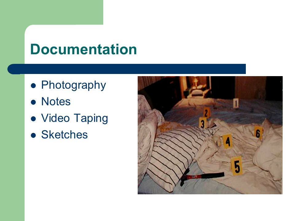 Documentation Photography Notes Video Taping Sketches