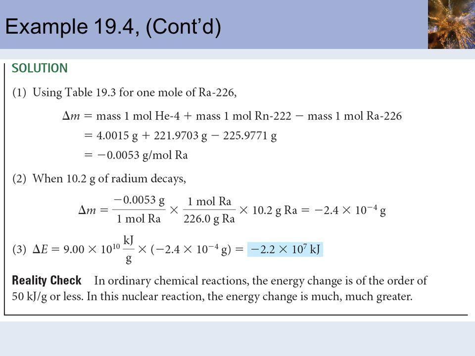 Example 19.4, (Contd)