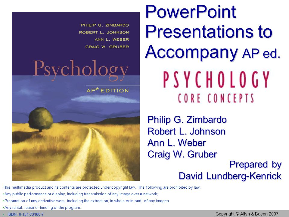 Copyright © Allyn & Bacon 2007 What Is Psychology – and What Is It Not.