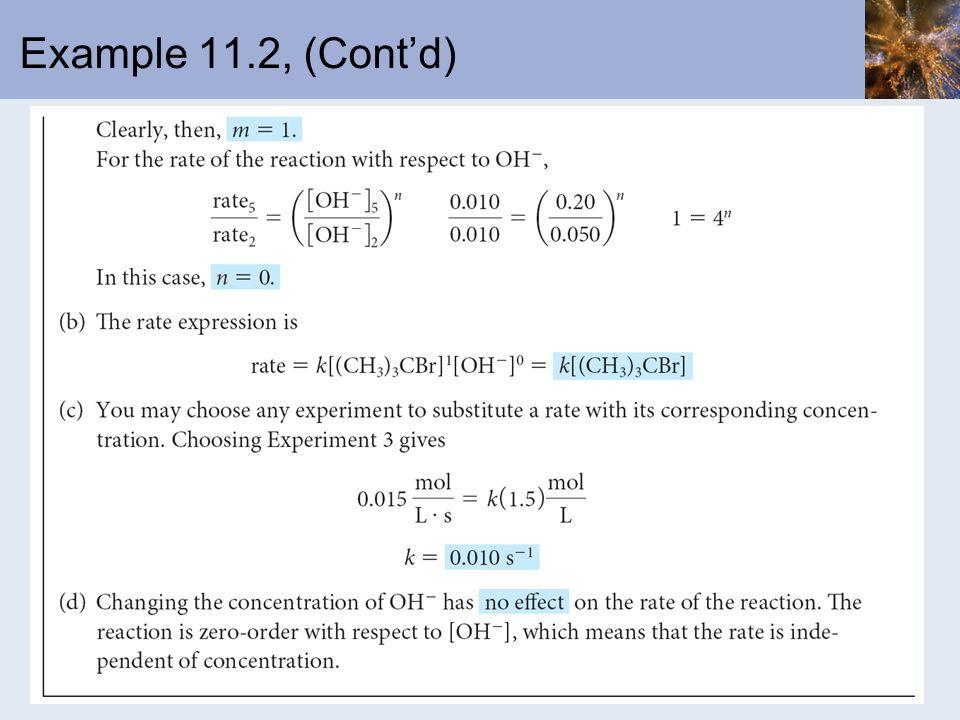 Example 11.2, (Contd)