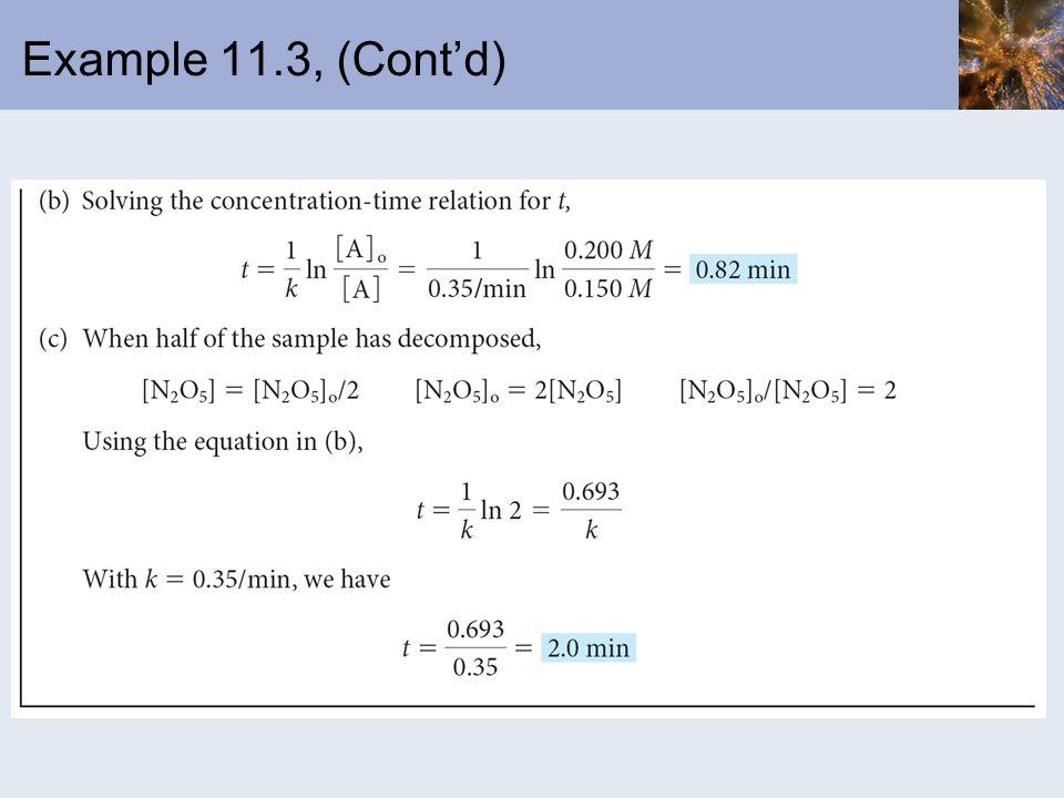 Example 11.3, (Contd)