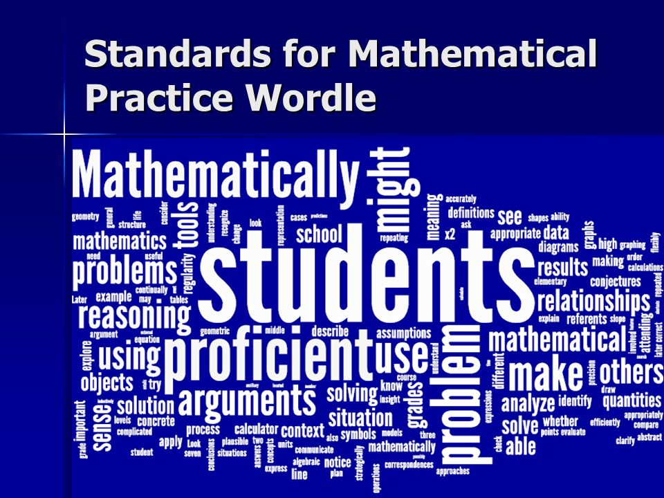 Standards for Mathematical Practice Wordle