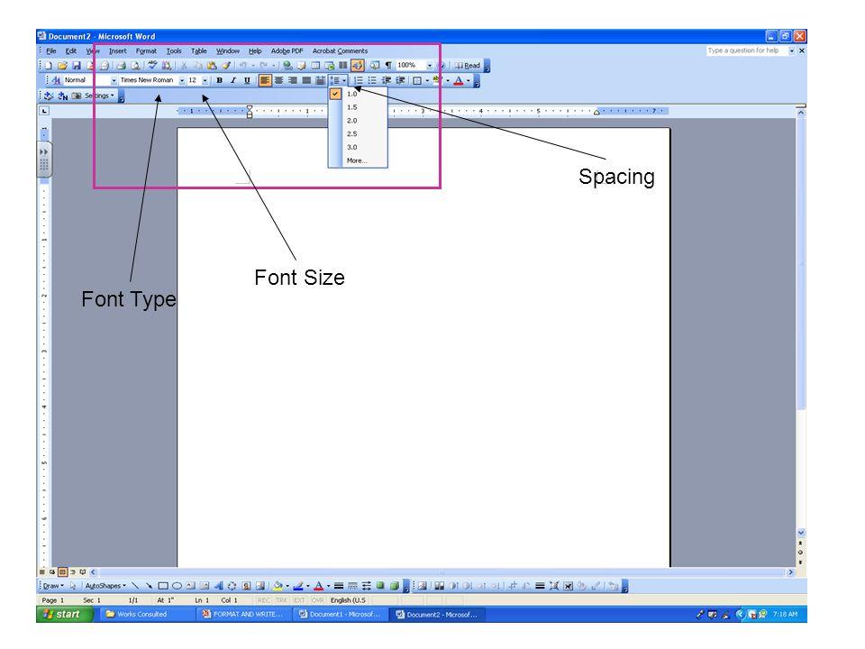 font for mla format