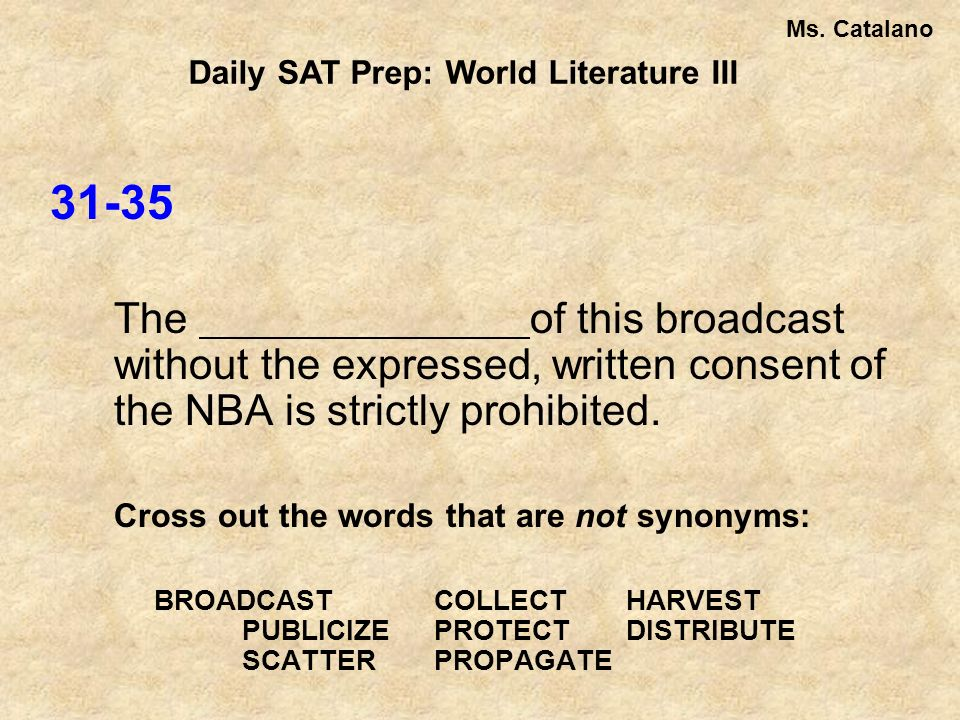 31-35 The of this broadcast without the expressed, written consent of the NBA is strictly prohibited.