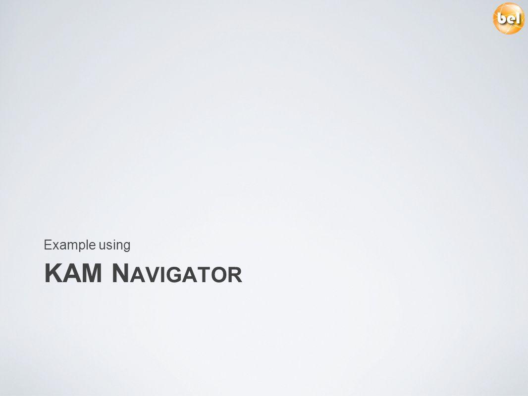 KAM N AVIGATOR Example using