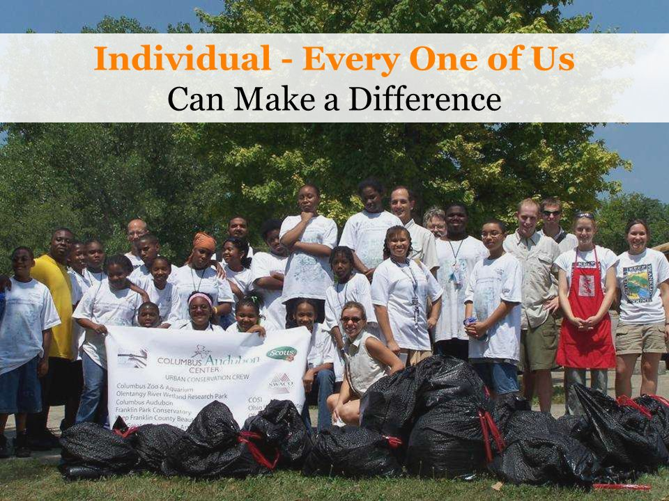 Individual - Every One of Us Can Make a Difference