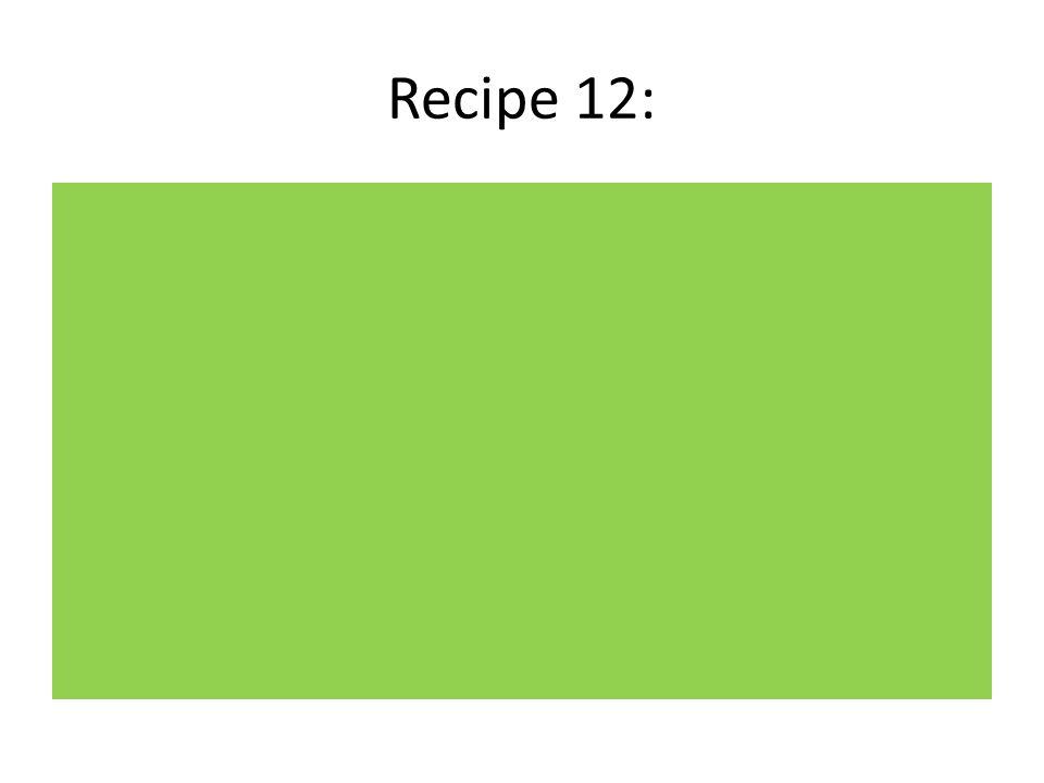 Recipe 12: